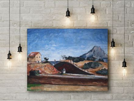 Paul Cezanne: The Railway Cutting. Fine Art Canvas.